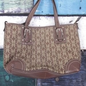 Fossil Leather Trim Handbag Shoulder Bag